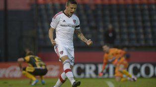 Uno de los pibes. Héctor Fértoli marcó dos de los tres goles ante Olimpo