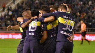 A un paso. Boca goleó a Aldosivi y podría coronarse el próximo martes sin jugar.