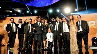 Elenco ganador. La serie de la TV Pública se alzó con el premio mayor de la jornada.