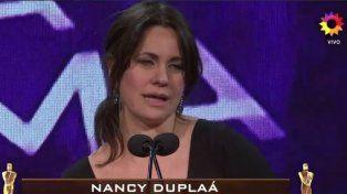 Nancy Dupláa le dedicó su Martín Fierro a las víctimas de la nueva Argentina que cierra fábricas