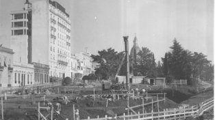 1943, año en que comenzó La obra. El Monumento se concluyó catorce años después. La inauguración oficial fue el 20 de junio de 1957.