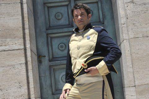el general. Pablo Rago filmó el documental en el Monumento a la Bandera.
