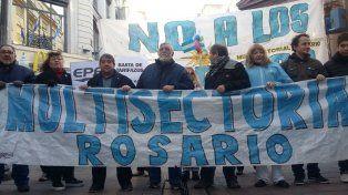 La Multisectorial contra el Tarifazo se movilizó en reclamo contra los aumentos