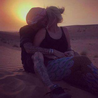 las romanticas postales de wanda y mauro icardi que pasaron la noche en el desierto
