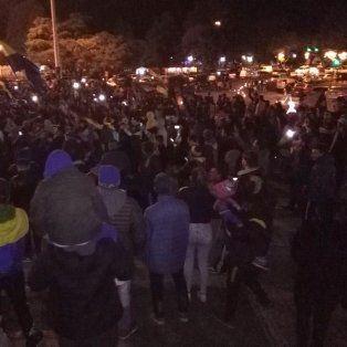 Festejo en el Monumento. Los hinchas de Boca celebraron en todo el país.