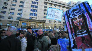coincidencia. La marcha fue a la misma hora que el acto de Cristina.