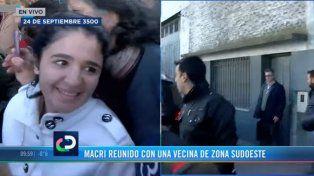 Polémica por la presencia de una asesora del PRO entre los vecinos que saludaron a Macri