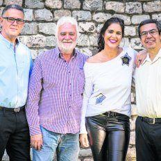 Eclécticos. Javier Allende, Carlos Pagura, Lorena Barile y Leonel Lúquez.
