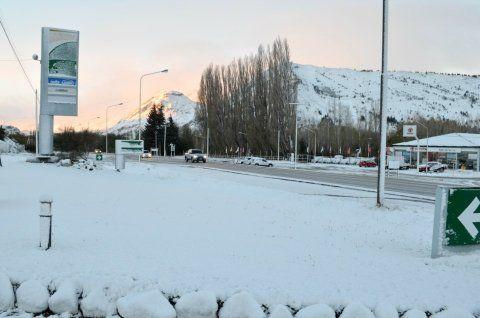 chubut. Vastos sectores de la provincia reciben una intensa nevada.