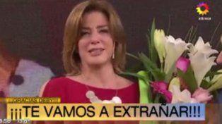 Débora Pérez Volpin se despidió a puro llanto de la tele para iniciar su carrera política