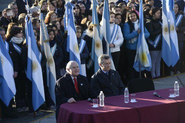 El gobernador Lifschitz y el presidente Macri