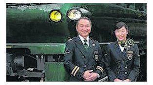 Trenes de lujo circulan en Japón