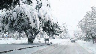 chubut. La provincia sufre un extenso temporal de lluvia y nieve.