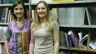 Olga Peralta y Daniela Jauck, investigadoras del Irice-Conicet.