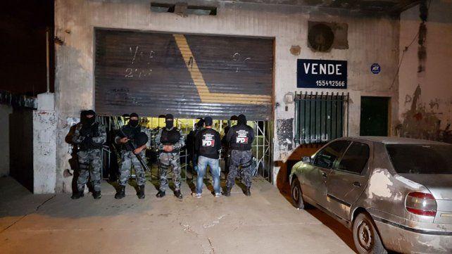 La PDI secuestro precursores químicos en un taller metalúrgico de French al 7100.