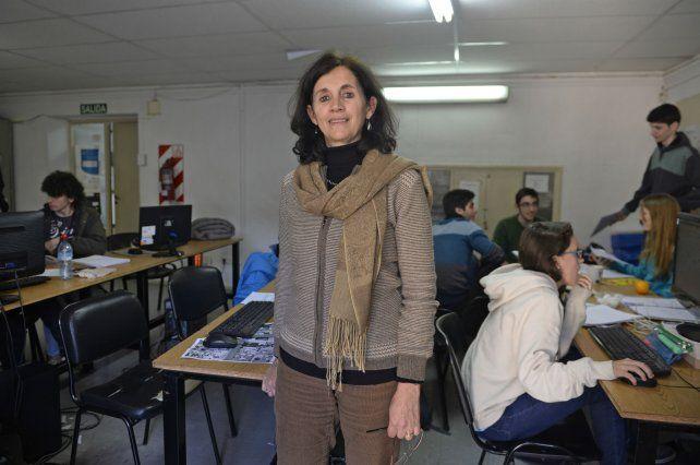 La coordinadora del postítulo docente