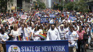 Manifestantes. La última marcha del orgullo gay celebrada en la Gran Manzana el año pasado.