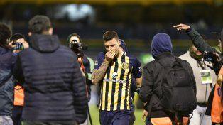 Emoción. Musto lloró tras el empate contra Talleres. En San Juan prefirió no jugar.