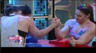 Tensión en vivo en el programa del Chino Leunis: una participante se fracturó el brazo en la pulseada