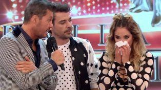 Golpazo. Flor Vigna se lastimó la nariz durante el baile y tuvo que ser atendida.