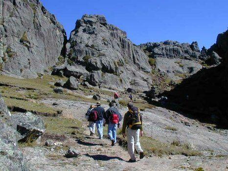 formación. En Los Gigantes existe un circuito de trekking.