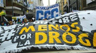 Marcha y acto en Rosario bajo el lema Ni un pibe menos por la droga