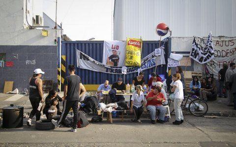 Defensa. Los trabajadores de Pepsico buscan evitar un vaciamiento.