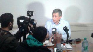 Boasso, en la conferencia de prensa de esta mañana.