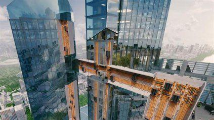 El primer ascensor que puede desplazarse en sentido horizontal y vertical