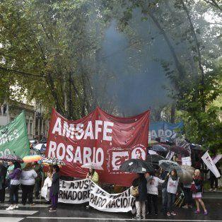 Amsafe vuelve a marchar mañana por las calles de Rosario. (Foto de archivo)