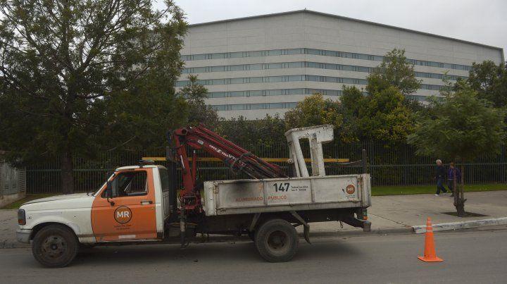 Los trabajos en la zona aledaña a City Center ya comenzaron.