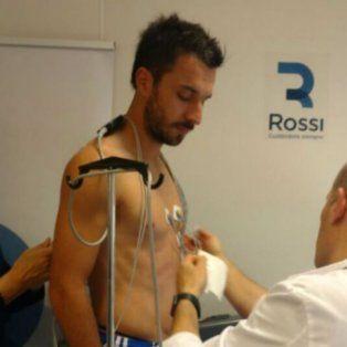 Nacho Scocco, en la revisión médica para River.