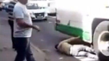 Chofer atrapó a un ladrón con las ruedas del colectivo