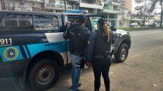 Personal de la Policía Federal trasladó a Celestina Contreras hasta las dependencias ubicadas en avenida Francia al 1200.