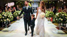 Lionel y Antonela ya son marido y mujer. Lo celebraron con sus 260 invitados a la fiesta, acompañados por su hijo Thiago.