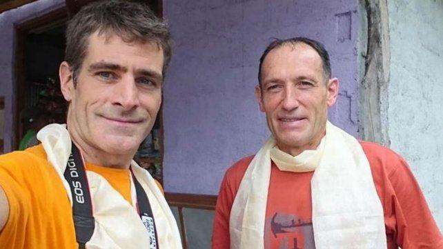 Galván y Zerain juntos. El año pasado habían compartido la ascensión de dos montes del Himalaya de más de 8.100 metros.