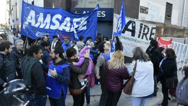 La protesta de Amsafé