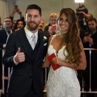 Recién casados. El viernes pasado, Lionel y Antonela dieron el sí.