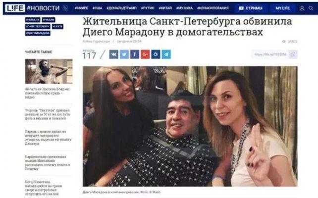 Una periodista rusa denunció a Maradona por acoso y ofrecerle dinero a cambio de sexo