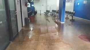 El lugar. Así quedaron las oficinas de ABSA luego del insólito actuar del usuario.
