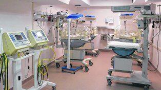 Todo nuevo. La flamante maternidad del hospital Roque Sáenz Peña, ya inaugurada pero todavía en etapa de ajustes.