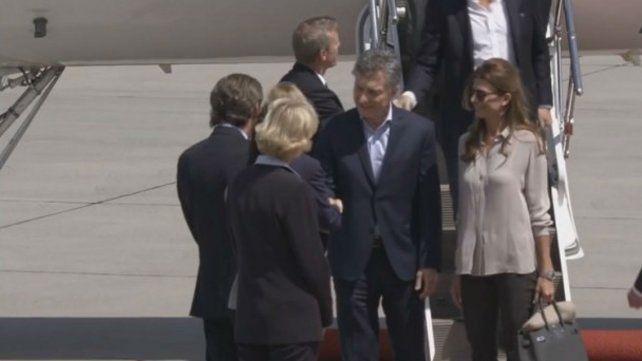 El presidente Mauricio Macri y su esposa Juliana Awada