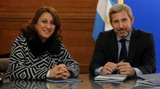 La intendenta Mónica Fein hizo un balance positivo de la reunión que mantuvo hoy con el ministro Rogelio Frigerio.