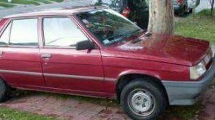 La imagen del auto que fue robado hoy a la tarde.