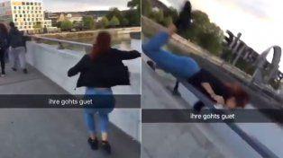 Viral. El video de la joven en Suiza dio la vuelta al mundo a través de las redes sociales.