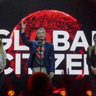 Estrella global. El presidente Mauricio Macri habló en el Global Citizen. Estuvo en el escenario con Shakira.