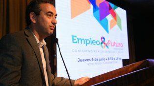 En el debate. El secretario general de la Municipalidad participó de la jornada Empleo & Futuro.