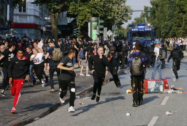 Ciudad sitiada. Las protestas llegaron a las inmediaciones del recinto donde debatían los líderes mundiales.