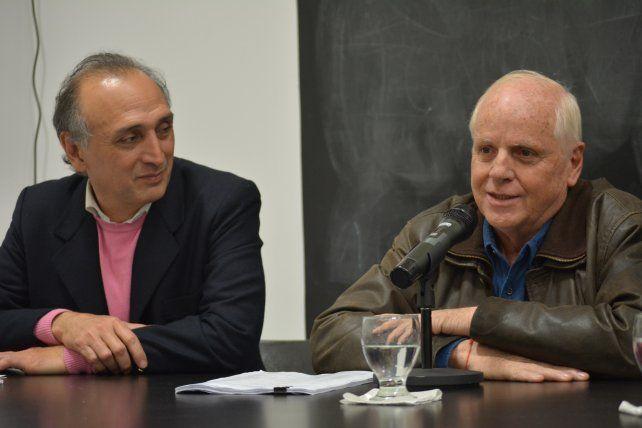 Conferencia. Rosúa y Fernández Pastor hablaron de temas sociales.
