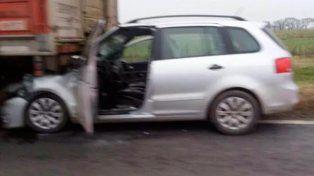 Un hombre falleció tras chocar contra un camión en la Ruta Nacional 34
